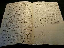 ANTIQUE MANUSCRIPT 1680