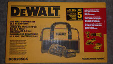 DeWalt dcb205 20-Volt MAX 5.0Ah Battery & dcb115 Charger + Bag DCB205CK 20v new