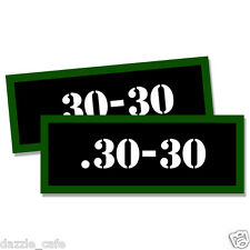 ".30-30 Ammo Can 2x Labels for Ammunition Case 3""x1.15"" stickers decals 2pack"