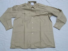 Shirt Mans Fawn,Long Sleeve,All Ranks,Diensthemd,langarm, Gr. 40