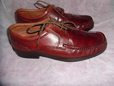MARKS & SPENCER AIRFLEX MEN'S BROWN LEATHER LACE UP LOAFERS SIZE UK 6 EU 39.5