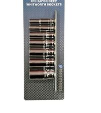 "Toolzone Cromo Vanadio 7 PC 3/8"" profundo WHITWORTH BSW (Británicos) Enchufes Y Riel"