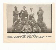 Bethany Guild Wilmington Delaware Baseball 1907 Team Picture