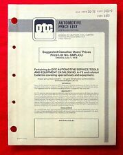 1976 Owatonna Tool Company Canadian Price List for Automotive Tools gd4u