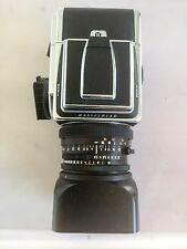 HASSELBLAD 503 CW WITH 2 MATCHING FILM BACKS PRO SHADE AND NECK STRAP 80MM LENS