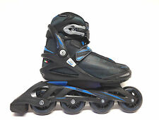 Roces Stripes black blue Fitness Inline Skates Gr. 39 -Sale- Inliner Abec 5 80mm