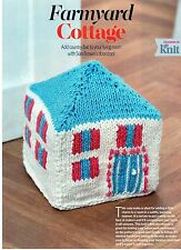 ~ Knitting Pattern For Charming Country Cottage Doorstop ~