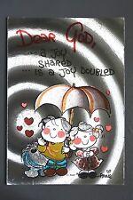 R&L Modern Postcard: Dufex Card, A Joy Shared is a Joy Doubled, Annie