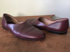 Church's Burgundy Leather Hard Sole House Slippers Men's UK 10.5 US 11.5