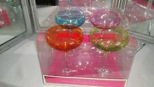 SET OF 4  LILLY PULITZER FOR TARGET COCKTAIL MARGARITA GLASSES WITH GOLD RIM NIB