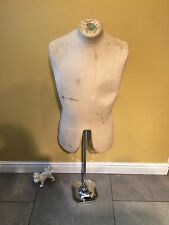 Antique Tailors Shop Dummy Haberdashery Mannequin Store Display Male Torso