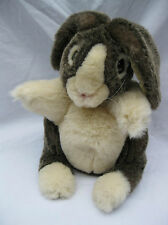 Folkmanis Dutch Rabbit Grey Cream Bunny Plush Hand Puppet Pretend Play Stage