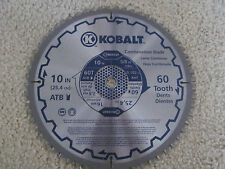Kobalt Combination Circular Saw Blade 10 inch ~ 60 Tooth Dents ~ 25,4 cm ~ 5/8""
