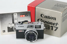 Canon Canonet QL17 G-III camera Rangefinder * Original Box, manual & NEW SEALS