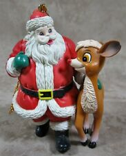 Rudolph the Red Nosed Reindeer & Santa Hard Rubber Ornament
