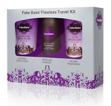 Fake Bake Flawless Travel Self Tan Kit - Body Scrub Moisturiser & Flawless Tan