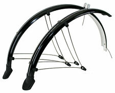 "New 26"" Mountain Bike 60mm Full Mudguards Black RRP £24.99 Black or Silver"