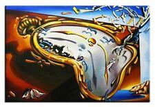 Salvador Dali-Die weichen Uhren-70x50 Ölgemälde Handgemalt Leinwand Sig.G05538