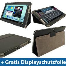 Schwarz Leder Tasche für Samsung Galaxy Tab 2 10.1 P5100 P5110 Wifi 3G Hülle