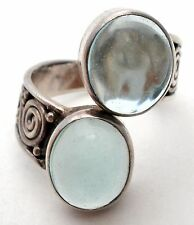 Sajen Ring Sterling Silver Size 8 Green Amethyst Gemstone Jewelry 925 Signed