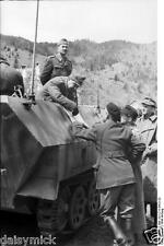 German & Romanian Army Officers Ukraine 1944 World War 2 Reprint Photo 6x4 Inch