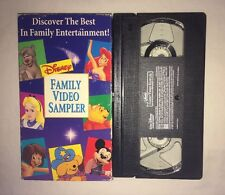 Disney Family Video Sampler (VHS, 1994) MICKEY MOUSE WINNIE THE POOH RARE
