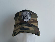 Trucker Cap,Camo,Biker For Life,Harley,Chopper,Old School,Mütze