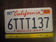 License Plate, California, dmv dot ca dot gov, Triple T:  6  TTT  137