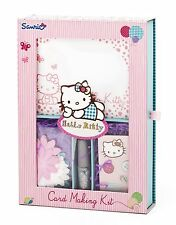 Hello Kitty Create Your Own Cards Christmas Arts & Crafts Girls Card Making Kit