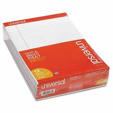 Universal White Paper Perforated 12 ct Writing Legal Letter Note Pads 8.5 x 11