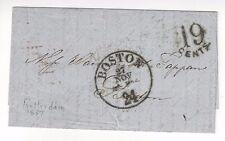 1857 Rotterdam to Boston Stampless Transatlantic via England Forwarding Agent