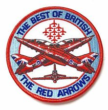 RAF Red Arrows Best Of British Royal Air Force Military Embroidered Patch