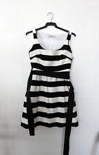 Vestido blanco y negro de rayas.Corte ingles Formula Joven.Sin estrenar.Talla 36