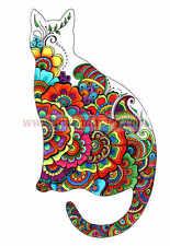 Henna Cat blank A5 blank notebook, sketchbook, travel book