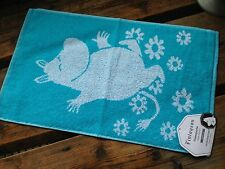 Moomin hand / guest / gym towel, 30x50cm, Finlayson, from Finland,  blue cotton