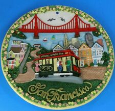 San Francisco 3D Decorative Plate Wall Hanging Lambard Street Cable Car Bridge