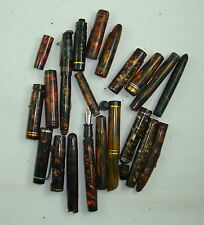 LOT C  PIECES DETACHEES REPARATION STYLOS PLUME PPR FOUNTAIN PEN WRITING marron