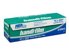 """Handi-Film 18""""x2000' Plastic Food Service Film Cling Wrap Roll - HFA # 21805"""