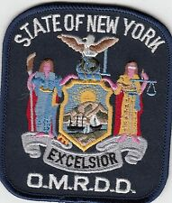 STATE OF NEW YORK O.M.R.D.D. POLICE SHOULDER PATCH NY