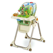 FISHER PRICE RAINFOREST HEALTHY CARE EZ CLEAN BABY HIGH CHAIR NEW