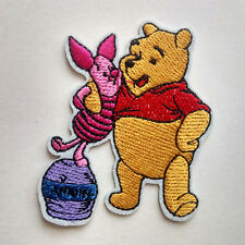 Winnie the pooh and piglet pig Embroidery Iron On Patch Shirt Jacket Hat Bag