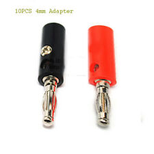 10 pcs 4mm Adapter Wire Cable Audio Speaker Banana Plugs Connector Black +Red