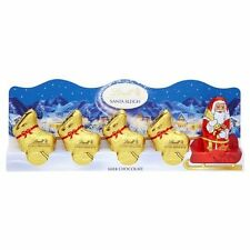 Lindt Mini Santa Sleigh with 4 Gold Reindeers