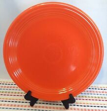 """Vintage Fiestaware Red 13"""" Double Footed Chop Plate - Fiesta HLC Charger Plate"""