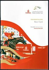 STREET CRY & JERRY BAILEY IN RARE 2002 DUBAI WORLD CUP HORSE RACING PROGRAM!