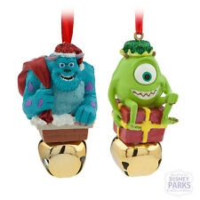 Disney Parks Sulley & Mike Wazowski Jingle Bell Ornament Set Bells Monster's Inc