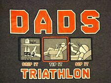 DADS GRIP IT TIP IT SIP IT  TRIATHLON-BEER DRINKER DESERVING DAD MEN'S T-SHIRT L