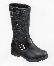 "NEW GIRLS ""143 GIRL"" ABBY MOTO TALL BOOTS - SIZE: 3 M  COLOR: BLACK"