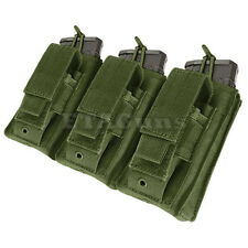 CONDOR OD GREEN MA55 MOLLE Triple 5.56 .223 KANGAROO Mag Magazine Pouch Holster