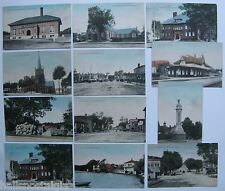 Set of 12 Arlington MA Sother-Mears Co. 1910 Postcards; Trolley, Moxie, Mass Ave